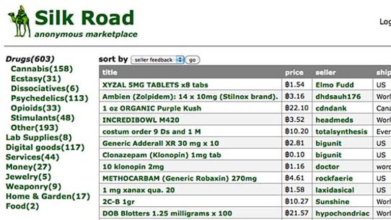 A screenshot from the Silk Road website.