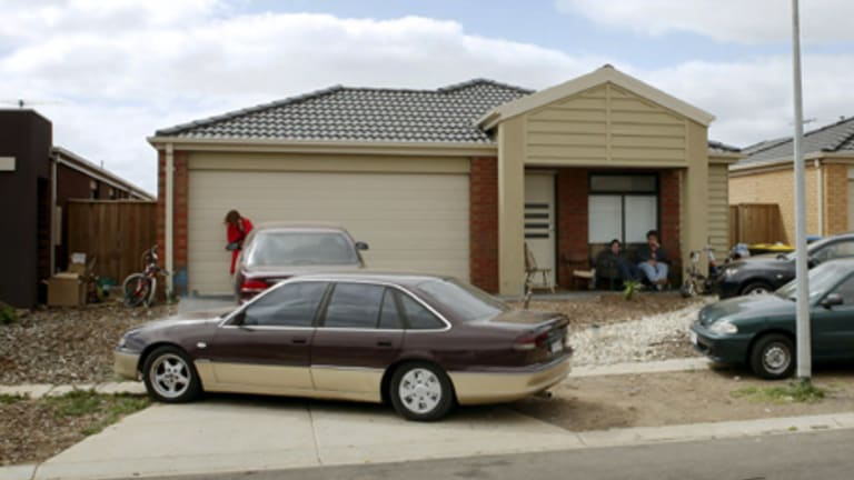 The house in Wyndham Vale where a stabbing took place.
