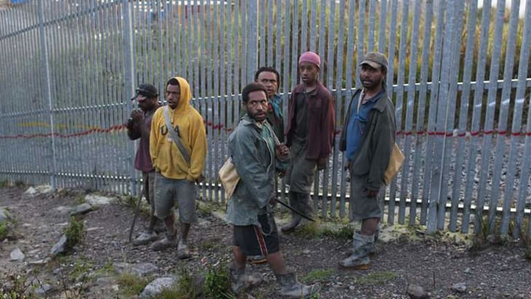 All that glistens … a group of young, illegal gold scavengers.