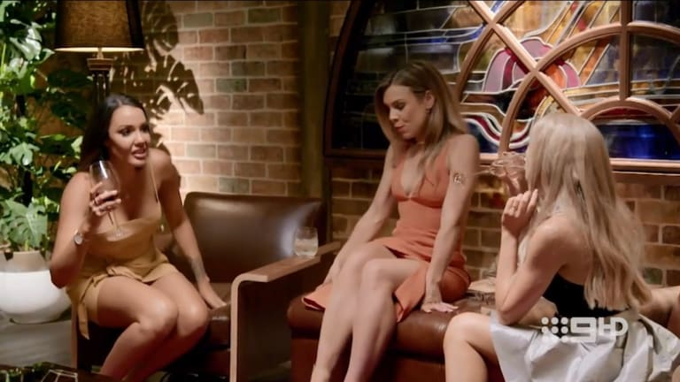 Davina doesn't hold back her wife swap plans from brides Carly and Ashley.