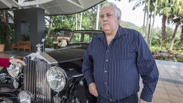 Mining magnate Clive Palmer in his car museum at Palmer Coolum Resort.