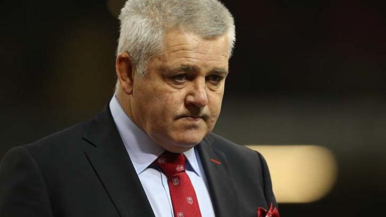 Frustrated: Wales coach Warren Gatland.