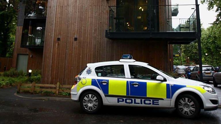 Found dead .... police investigate at Sean Hoare's home.