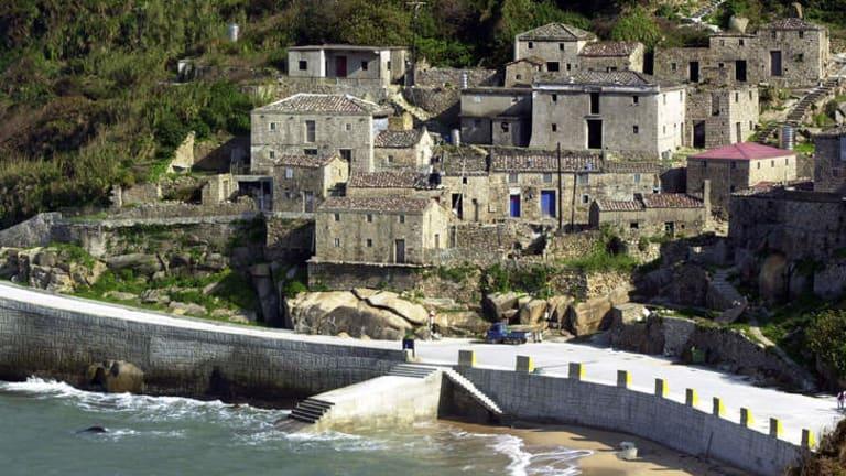 The 200-year old fishing village of Chinpi in Taiwan's Matsu islands.