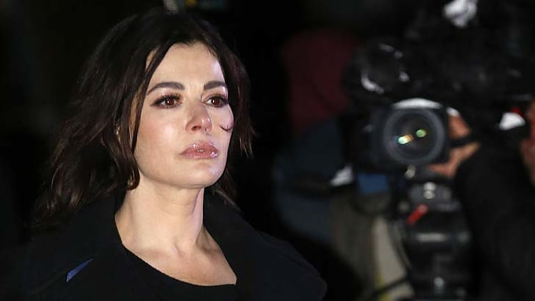 Silent dignity: Nigella Lawson says she has suffered bullying and abuse.