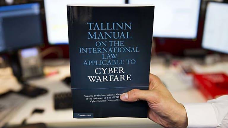 Handbook: <em>The Tallinn Manual on the International Law Applicable to Cyber Warfare</em>.