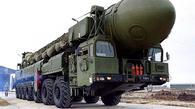 Assured destruction ... a Russian Topol-12M mobile nuclear missile.