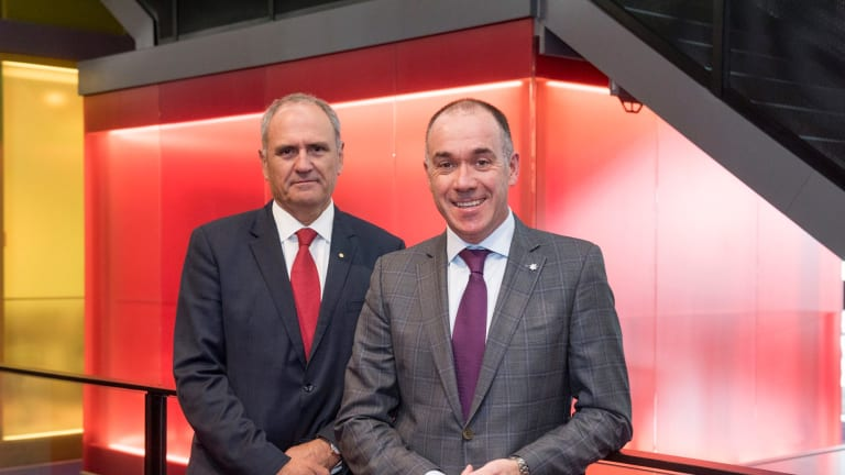 NAB chairman Ken Henry (left) and chief executive Andrew Thorburn.
