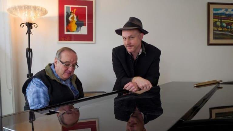 Bob Sedergreen (left) and Adam Rudegeair revel in the spontaneity of jazz.