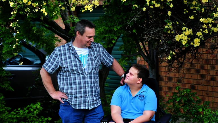Mark Brookhouse of Macarthur and his son Connor,12  have been on the ACT housing priority list since February 2013.
