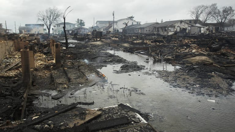 Nothing left ... Homes destroyed in Breezy Point.