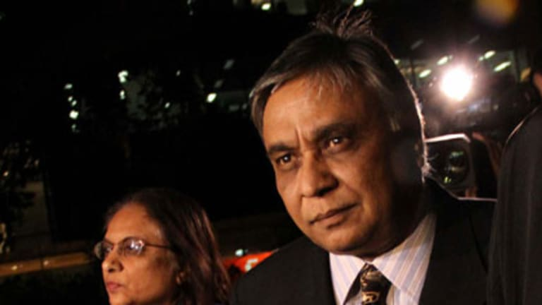 Jayant Patel and his wife Kishoree during his trial at Brisbane's Supreme Court.
