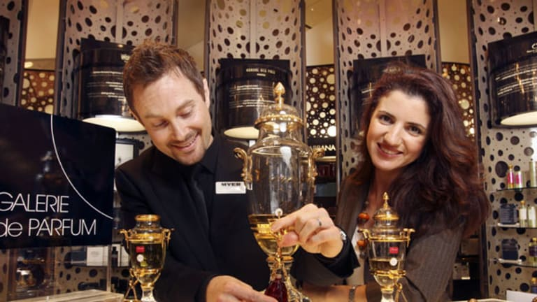 Myer frangrance buyer Marissa Galatis and consultant Sylvan say boutique perfumers are the new stars of the frangrance world.