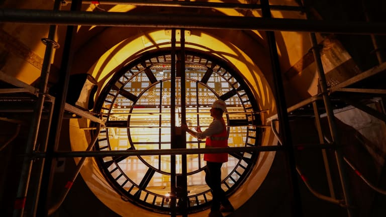 The clock will be repaired for the first time in a century. Photo by Jason South