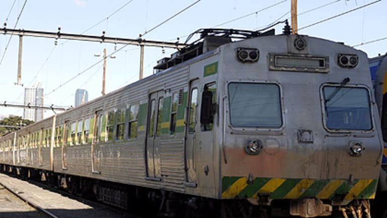 The silver Hitachi trains have been pulled out of service because they are riddled with rust.