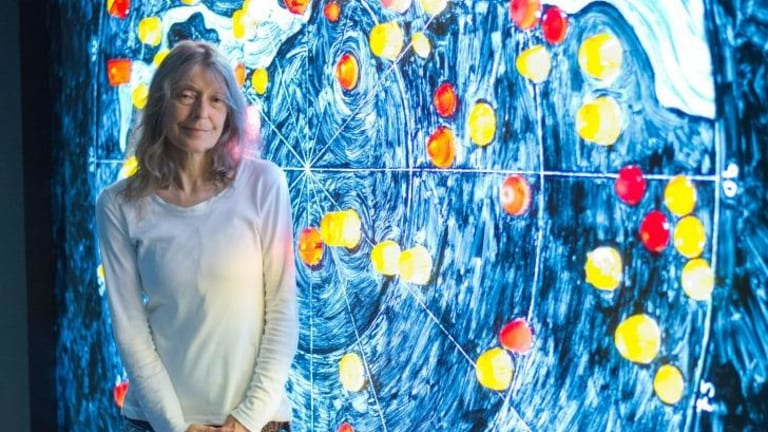VENICE, ITALY - MAY 05:  Artist Fiona Hall a the opening of the Australian Pavilion at the Venice Biennale on May 5, 2015 in Venice, Italy.  (Photo by Venturelli/Getty Images) a