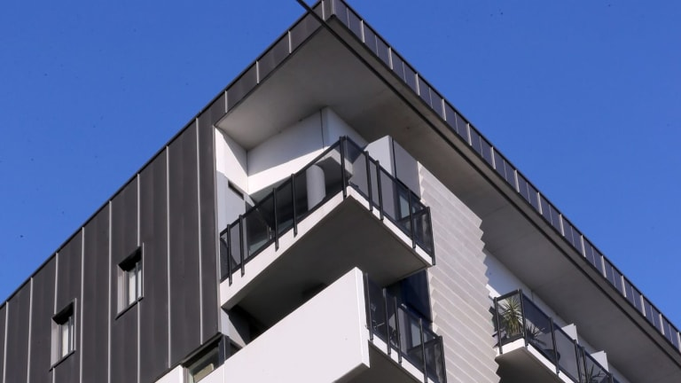 A general view of 463 Docklands Drive, built by LU Simon.