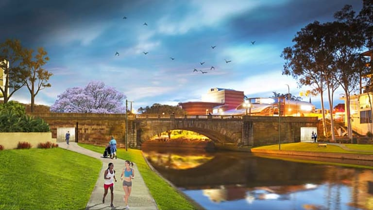 New age ... an artist's impression of the Lennox Bridge proposal.