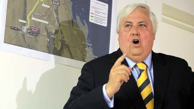 Colourful claims ... Clive Palmer.