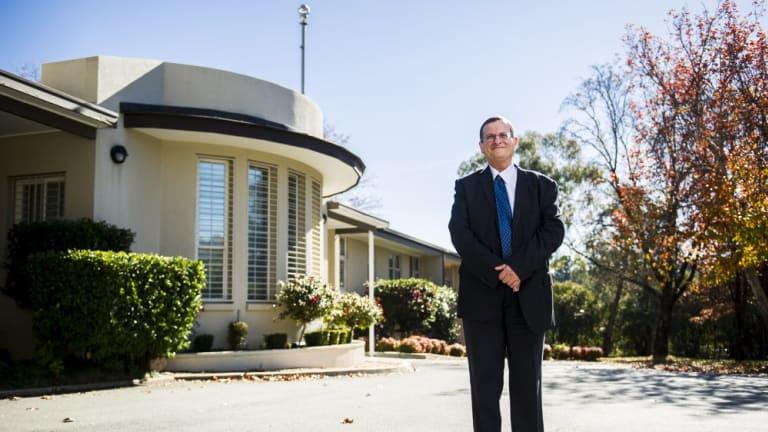 Ambassador Shmuel Ben-Shmuel of the Israel Embassy outside the embassy in Yarralumla.