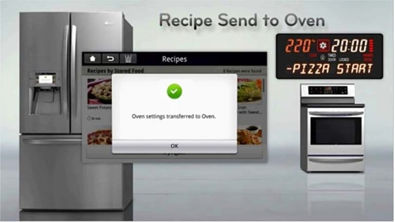 On of LG's smart appliances allows you to order food from it.