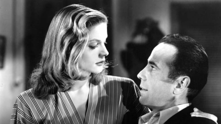 Lauren Bacall and Humphrey Bogart in <i>To Have and Have Not</i>, her first film.