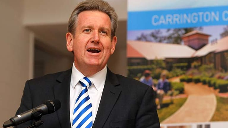Under fire: Premier Barry O'Farrell has been asked to apologise after a heated discussion with Labor frontbencher Linda Burney..