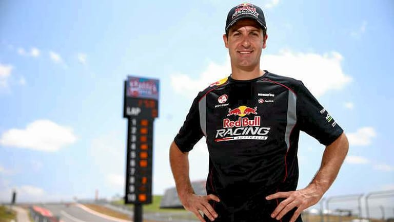 Jamie Whincup of the Red Bull Racing Australia Holden team in the pit lane at the V8 Supercar Championship Series at the Circuit of the Americas in Austin, Texas.