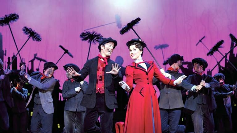 Eight wins … Matt Lee and Verity Hunt-Ballard take to the stage in <em>Mary Poppins</em>.