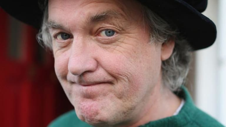 Will get new colleague ... Top Gear co-presenter James May poses for a photograph outside his home on Wednesday in Hammersmith, London, England.