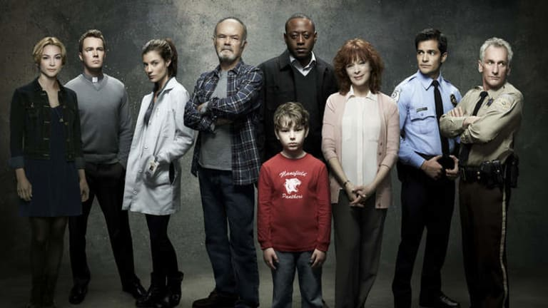 Life, death and high ratings:  the cast of <i>Resurrection</i>.