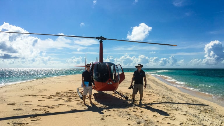 The National Coral Bleaching Taskforce has done an aerial survey of the Great Barrier Reef.