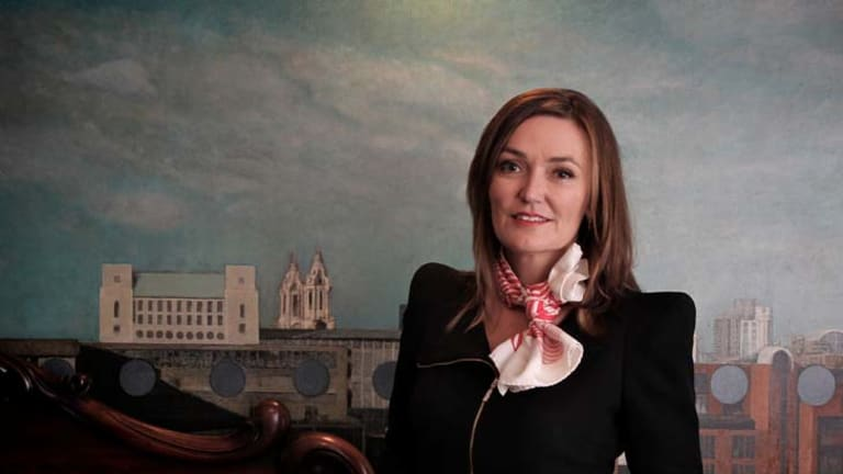 In the frame ... Siobhan McKenna juggles a busy corporate life with raising three young boys.