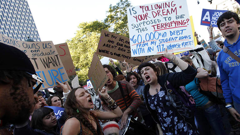 The Occupy Wall Street demonstrations have inspired similar protests in Brisbane.