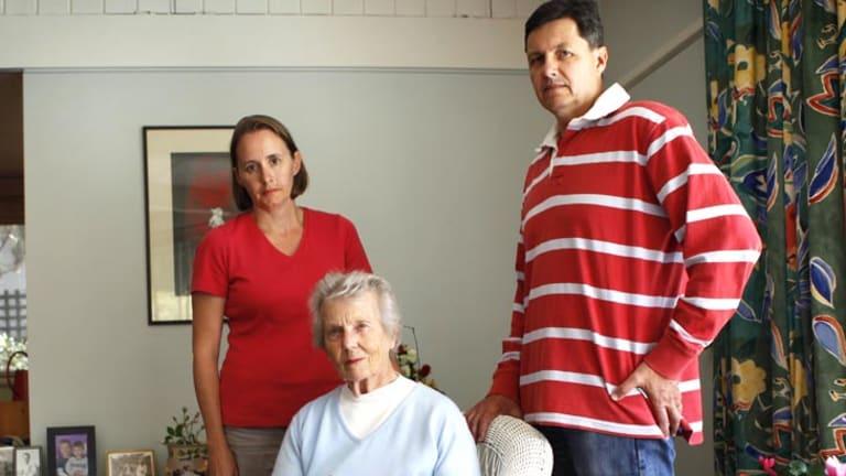 Concerned ... Family members Eliza Allen, Beverley Osborn, and Tony Allen.