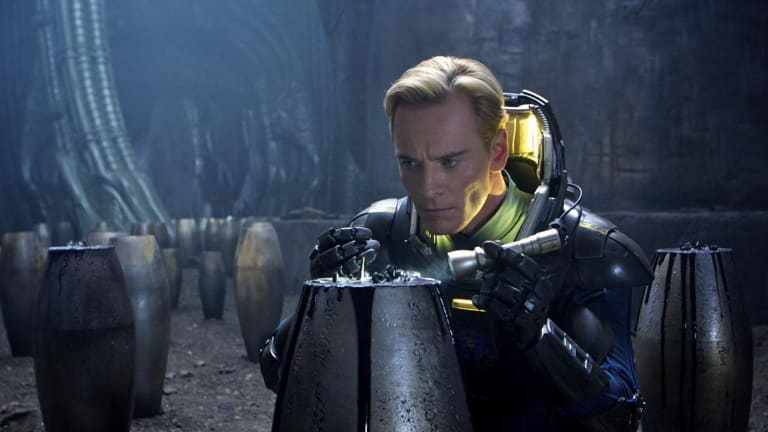 Michael Fassbender as android David in