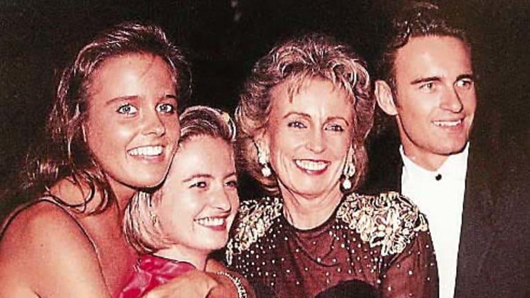 Family... Sonia McMahon with Deborah, Melinda and Julian.