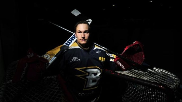 Goalkeeper Petri Pitkanen has been named the Canberra Brave's most valuable player for the 2014 Australian Ice Hockey League season.