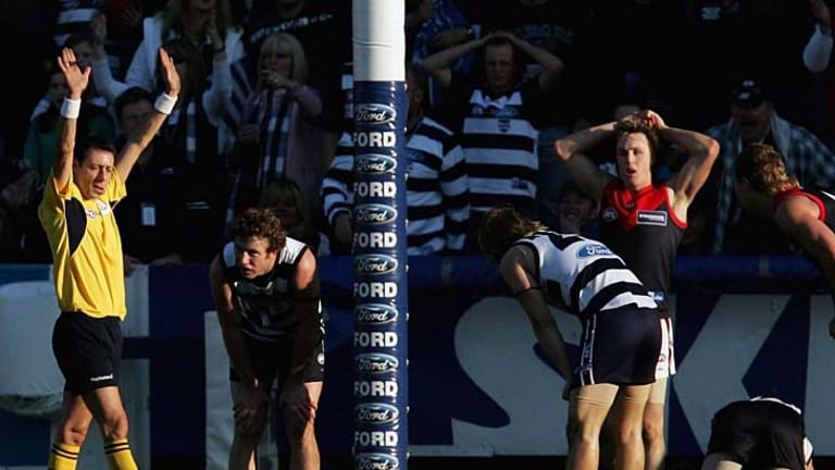 Melbourne last beat Geelong in 2006, when they also had this round 21 draw with the Cats at Kardinia Park.