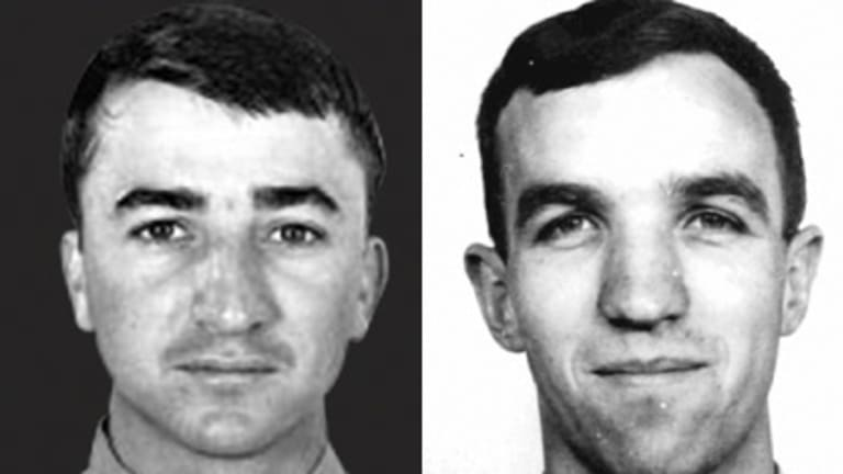Coming home ... Robert Carver, a navigator from South Australia. Right: Experienced ... Michael Herbert, who flew 198 sorties in Vietnam.