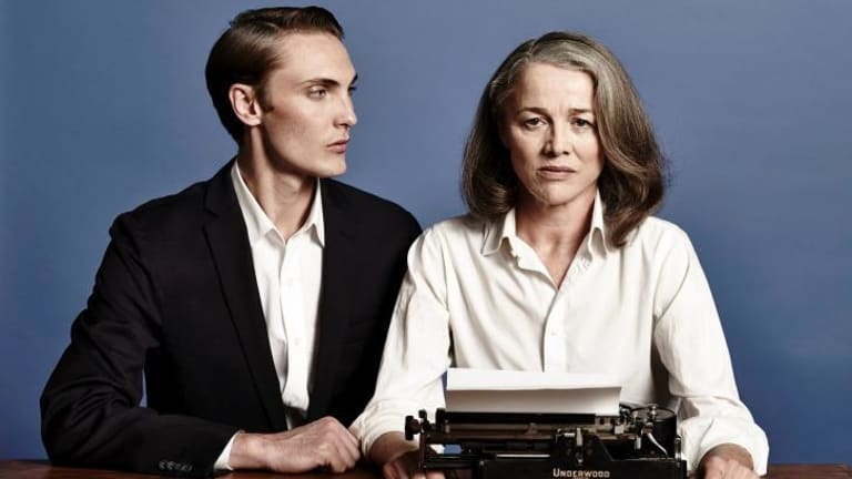 Recognised: Sarah Peirsewith Eamon Farren in <i>Switzerland</i>.