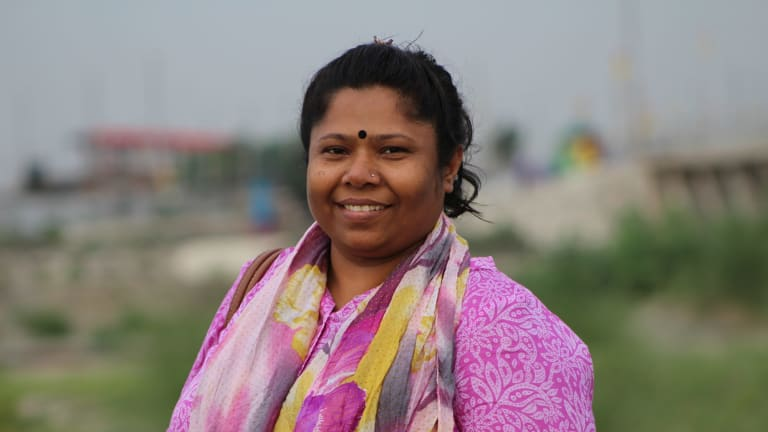 """""""Use your voice and consumer power to demand respect for our rights"""": Kalpona Akter from the Bangladesh Center for Worker Solidarity."""