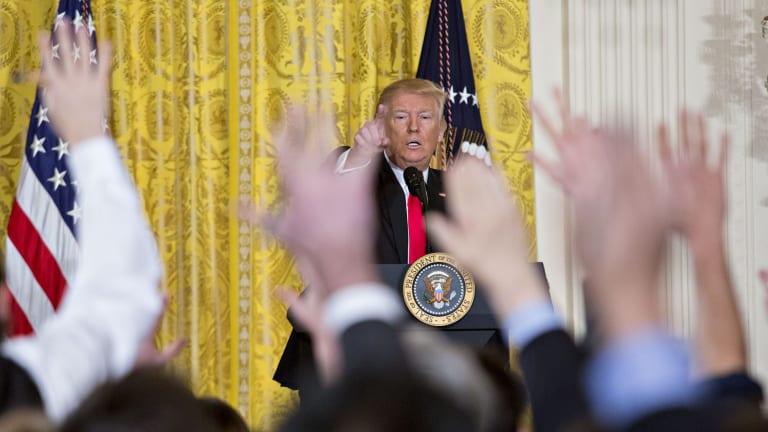Donald Trump's 75-minute press conference.