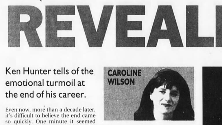 How Caroline Wilson's story on Ken Hunter came up in print