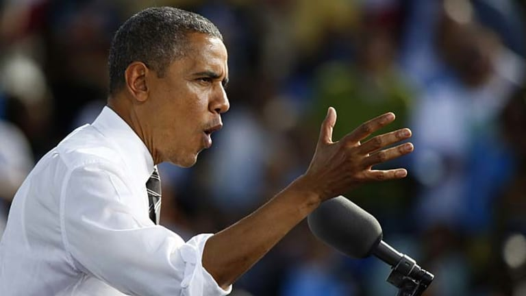 Obama in full flight at a Nevada rally and the re-elected President's tweet victory.