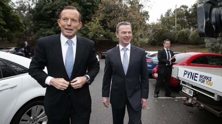 Do as I say: Tony Abbott and Christopher Pyne.