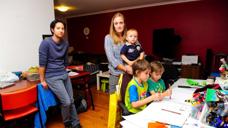 Al Locus and Emma  Snowden and their extended family continue to live in cramped conditions.