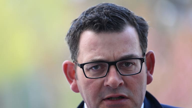 Premier of Victoria Daniel Andrews speaks to the media as he arrives for a special meeting on counter-terrorism of the Council of Australian Governments (COAG) at Parliament House in Canberra, Thursday, October 5, 2017. (AAP Image/Lukas Coch) NO ARCHIVING