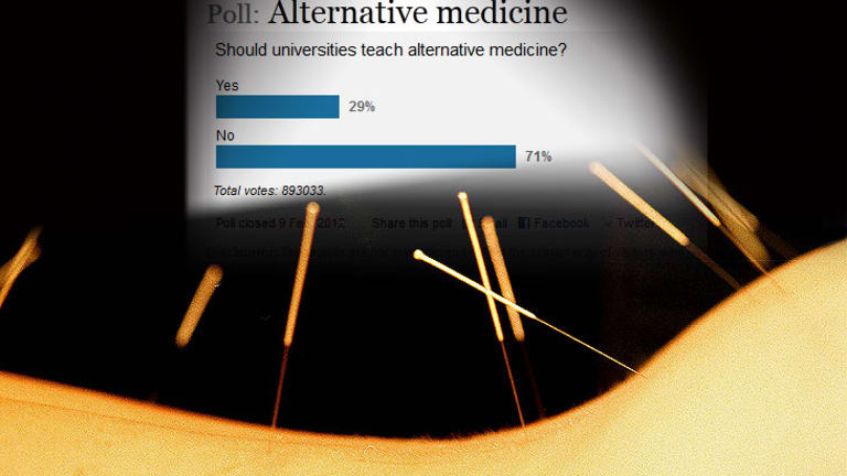 Sticking the needle in ... to our alternative medicine poll that was gamed,