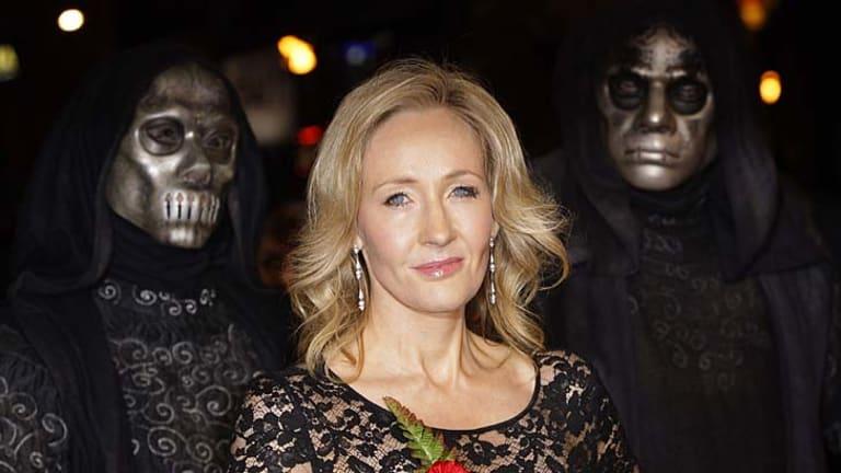 Cashing in ... author J.K. Rowling.